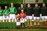 22.02.19 - Wales U20s v England U20s - U20s 6 Nations Championship - Wales sing the anthem.
