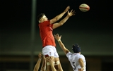22.02.19 - Wales U20s v England U20s - U20s 6 Nations Championship - Teddy Williams of Wales wins the line out.