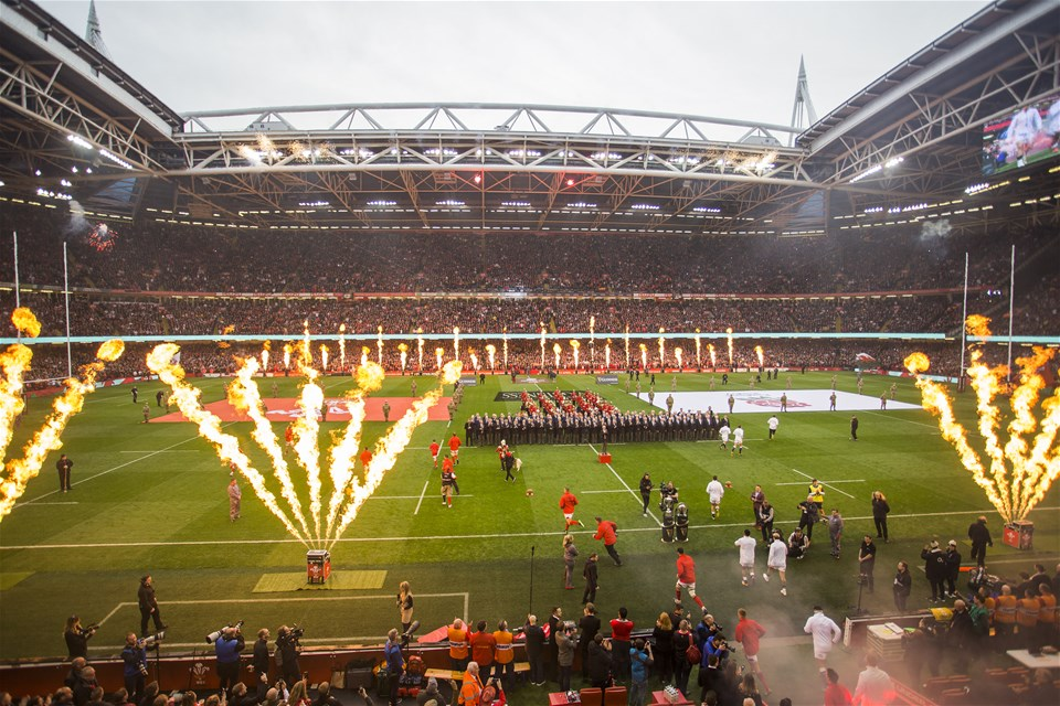 23.02.19 - Wales v England - Guinness 6 Nations Championship - Teams run out.