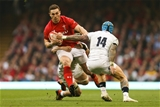 23.02.19 - Wales v England, Guinness Six Nations - George North of Wales is tackled by Jack Nowell of England and Jamie George of England