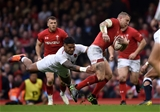 23.02.19 - Wales v England - Guinness Six Nations Championship - Hadleigh Parkes of Wales is tackled by Manu Tuilagi of England