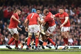 23.02.19 - Wales v England - Guinness Six Nations - Alun Wyn Jones of Wales  is tackled by Kyle Sinckler of England