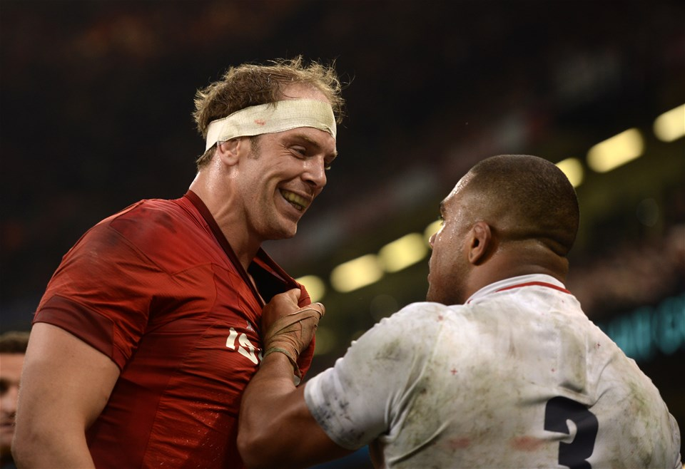23.02.19 - Wales v England - Guinness Six Nations Championship - Alun Wyn Jones of Wales and Kyle Sinckler of England