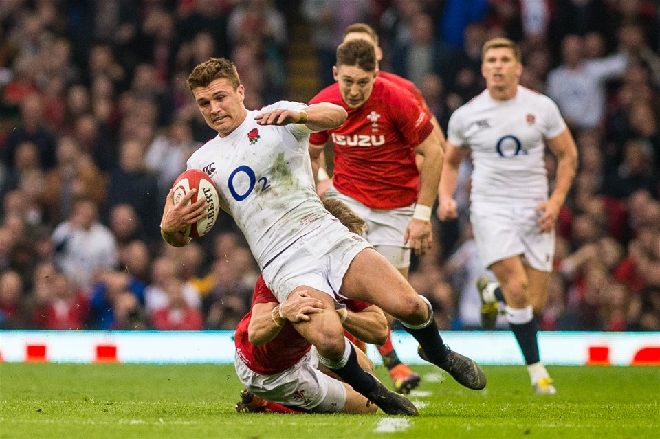 23.02.19 - Wales v England, Guinnes Six Nations  - Henry Slade of England