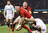 23.02.19 - Wales v England, Guinness Six Nations - Josh Adams of Wales celebrates with Liam Williams of Wales after he scores try