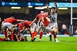 23.02.19 - Wales v England, Guinness Six Nations  - Gareth Davies of Wales kicks the ball forwards