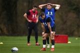 28.02.19 - Wales Rugby Training -Gareth Davies during training.