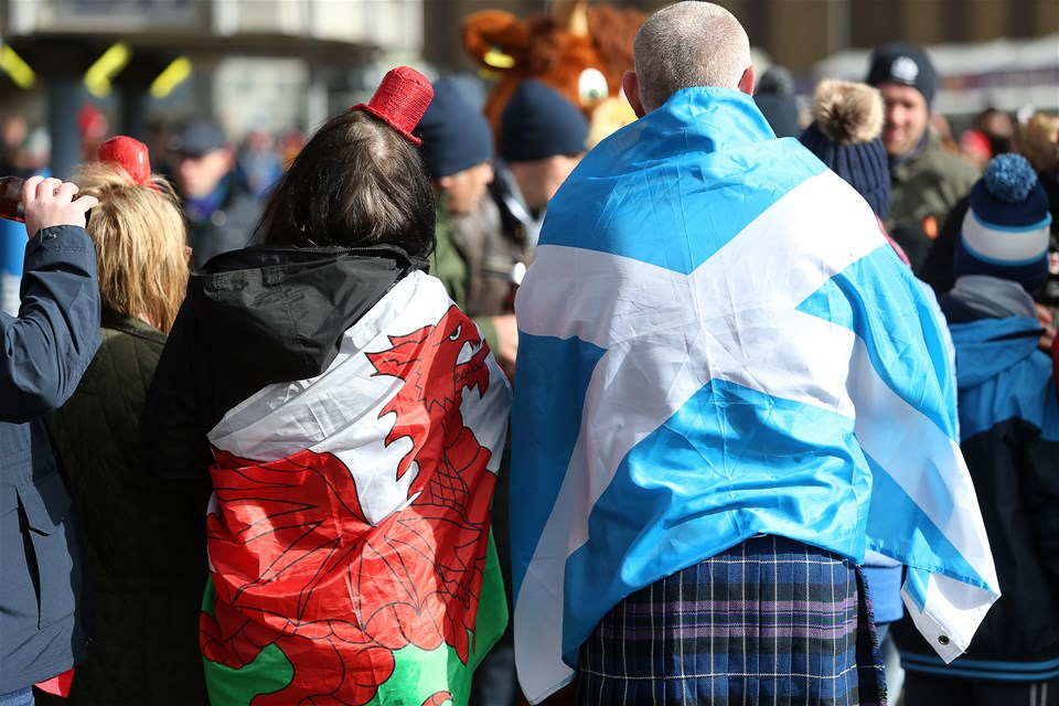 09.03.19 - Scotland v Wales - Guinness 6 Nations - Fans outside the stadium.