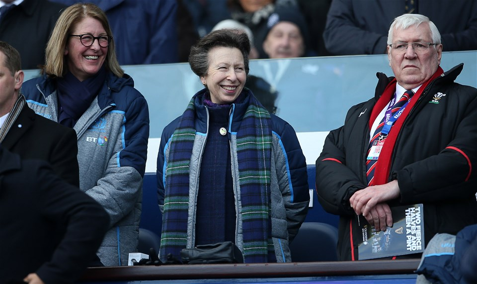 09.03.19 - Scotland v Wales - Guinness 6 Nations - Anne, Princess Royal watches the game.