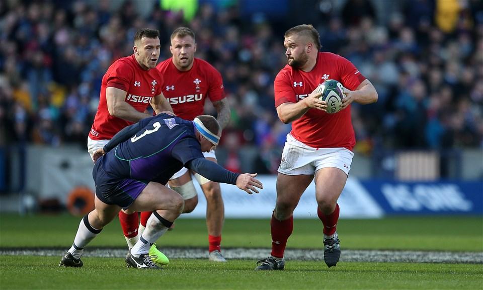 09.03.19 - Scotland v Wales - Guinness 6 Nations - Tomas Francis of Wales.