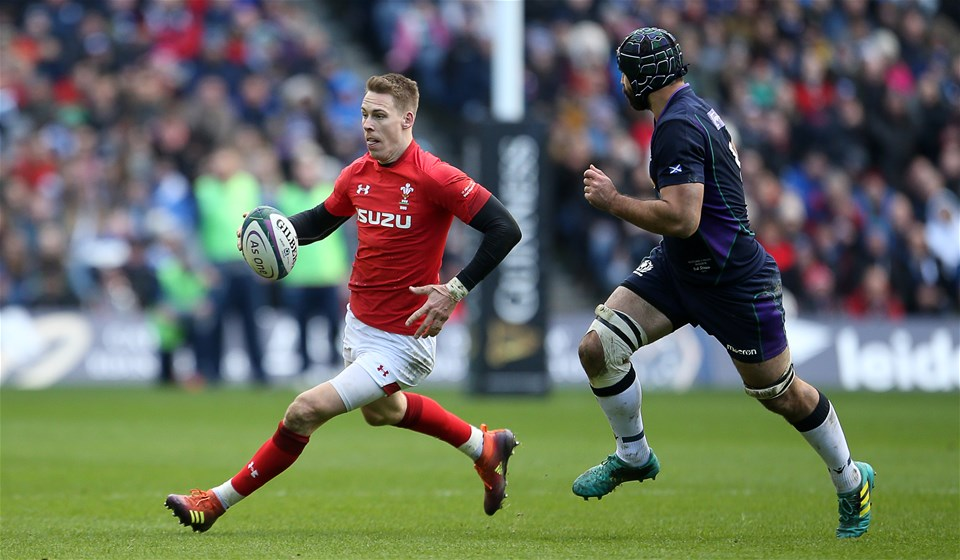 09.03.19 - Scotland v Wales - Guinness 6 Nations - Liam Williams of Wales.