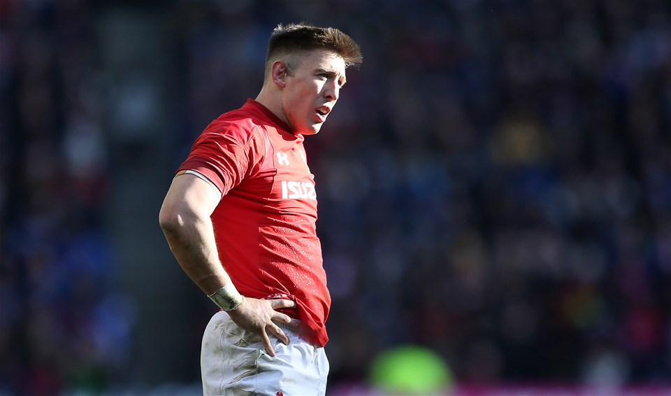 09.03.19 - Scotland v Wales - Guinness 6 Nations - Dejected Josh Adams of Wales after knocking the ball on.