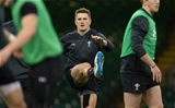 15.03.19 - Wales Rugby Captains Run, Principality Stadium - Jonathan Davies of Wales during training session at the Principality Stadium ahead of the Grand Slam decider against Ireland tomorrow