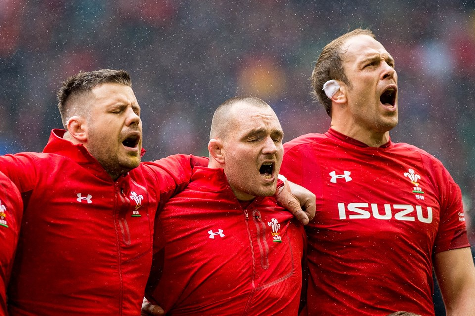 16.03.19 - Wales v Ireland - Guinness Six Nations - Wales  sing their National Anthem
