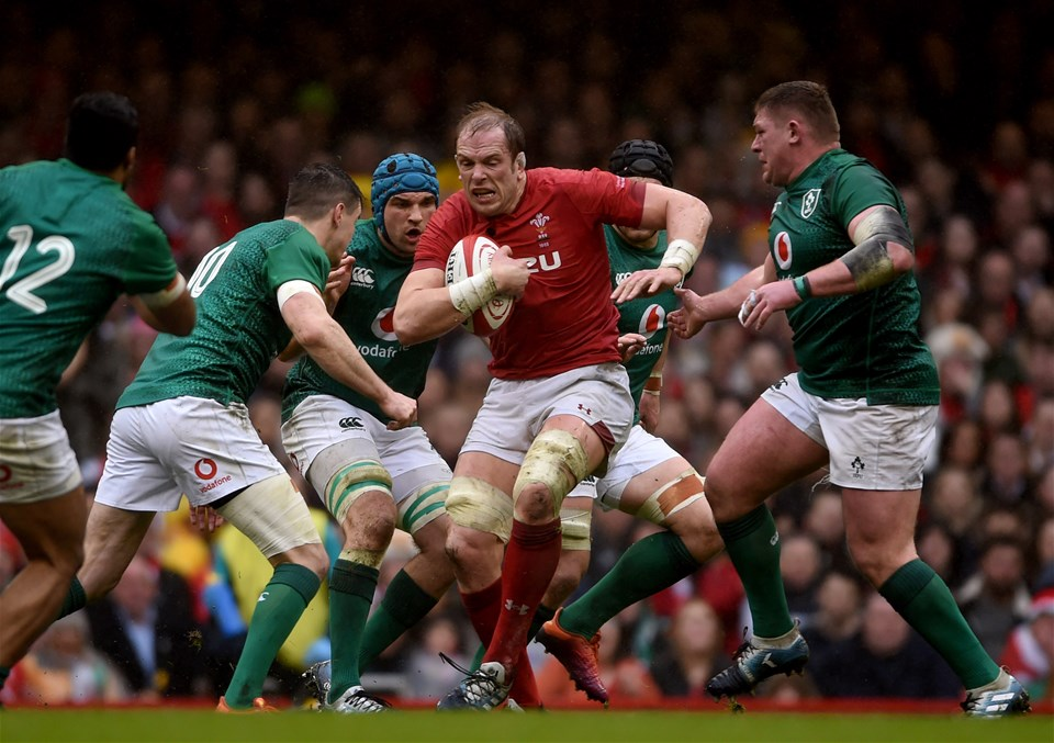 16.03.19 - Wales v Ireland - Guinness Six Nations - Alun Wyn Jones of Wales looks for a way through