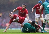 16.03.19 - Wales v Ireland, Guinness Six Nations Championship 2019 - Ross Moriarty of Wales is tackled by James Ryan of Ireland