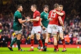16.03.19 - Wales v Ireland - Guinness Six Nations - Liam Williams of Wales celebrates with Jonathan Davies of Wales