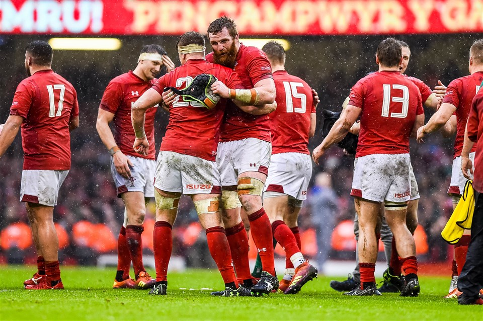 16.03.19 - Wales v Ireland - Guinness Six Nations - Wales Celebrate their win