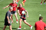 06.08.19 - Wales Rugby Training -Ross Moriarty during training.