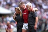 11.08.19 - England v Wales - Quilter International -Gareth Anscombe of Wales leaves the field with an injury.