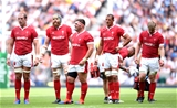 11.08.19 - England v Wales - Quilter International -Alun Wyn Jones, Jake Ball, Wyn Jones, Aaron Shingler and Aaron Wainwright of Wales looks on.