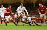 17.08.19 - Wales v England, Under Armour Summer Series 2019 - Joe Cokanasiga of England is tackled by Jonathan Davies of Wales