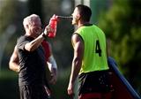 23.08.19 - Wales Rugby Training Camp, Turkey -Paul Stridgeon and Jonathan Davies.
