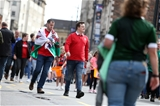 31.08.19 - Wales v Ireland - Under Armour Summer Series - RWC Warm Up - Wales fans.