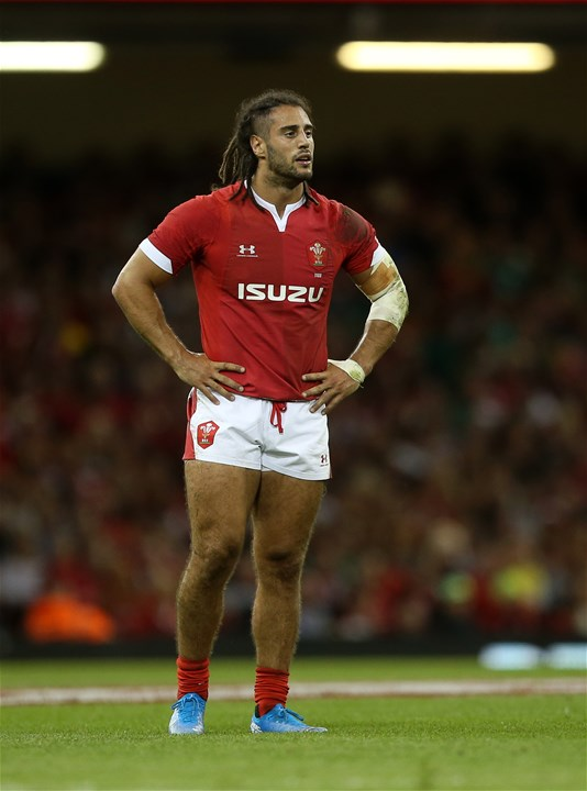 31.08.19 - Wales v Ireland - Under Armour Summer Series - RWC Warm Up - Josh Navidi of Wales.