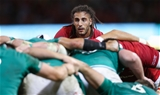 31.08.19 - Wales v Ireland, Under Armour Summer Series 2019 - Wales captain Josh Navidi looks over the top of the scrum during the match against Ireland
