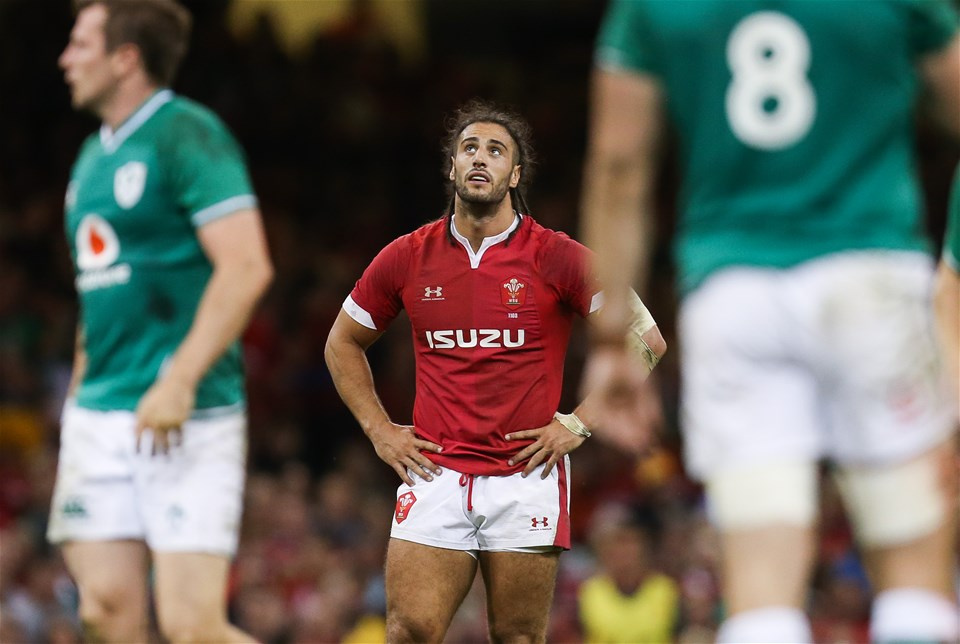 31.08.19 - Wales v Ireland, Under Armour Summer Series 2019 - Wales captain Josh Navidi during the match