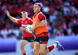 16.09.19 - Wales Rugby Training -Gareth Davies during an open training session.