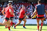 16.09.19 - Wales Rugby Training -Dillon Lewis during an open training session.
