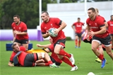 21.09.19 - Wales Rugby Training -Ken Owens during training.