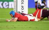 23.09.19 - Wales v Georgia - Rugby World Cup 2019 - Pool D - Justin Tipuric of Wales breaks through to score a try.