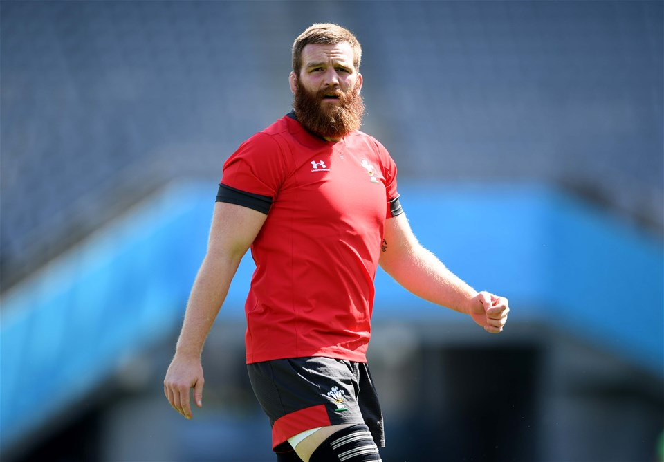 28.09.19 - Wales Rugby Training -Jake Ball during training.