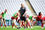 28.09.19 - Wales Rugby Training -Warren Gatland during training.