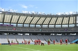 28.09.19 - Wales Rugby Training -Players during training.