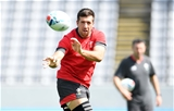 28.09.19 - Wales Rugby Training -Justin Tipuric during training.