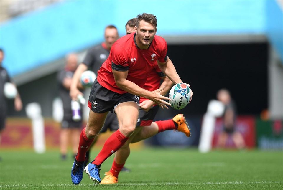 28.09.19 - Wales Rugby Training -Dan Biggar during training.