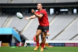 28.09.19 - Wales Rugby Training -Hadleigh Parkes during training.
