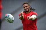 28.09.19 - Wales Rugby Training -Josh Navidi during training.