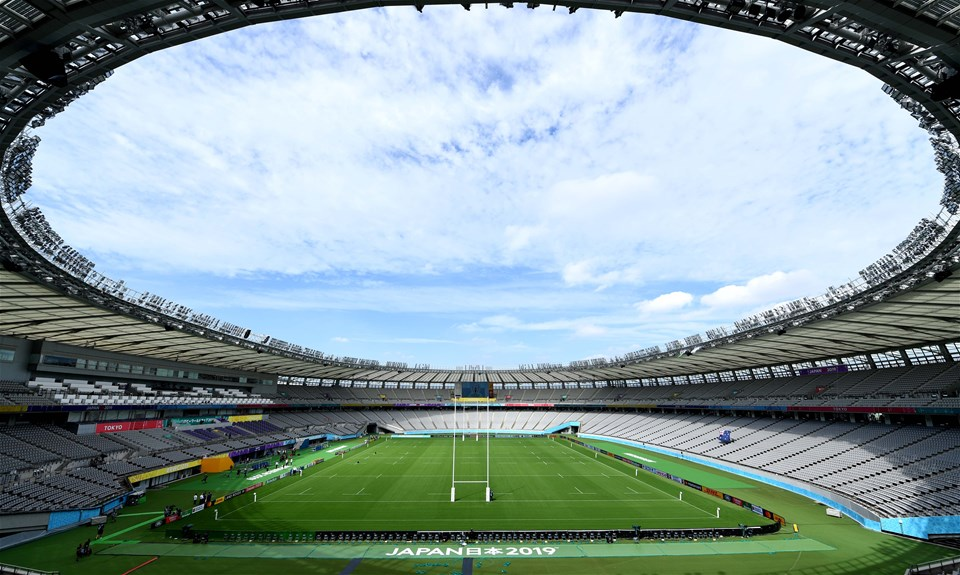 29.09.19 - Australia v Wales - Rugby World Cup -A general view of Tokyo Stadium ahead of kick off.