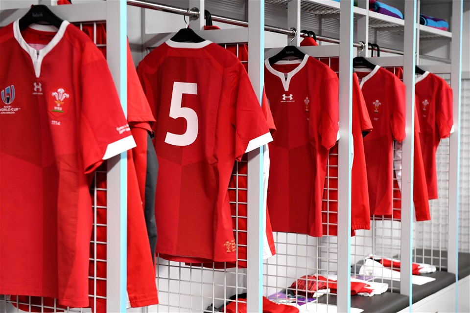 29.09.19 - Australia v Wales - Rugby World Cup -Wales dressing room.