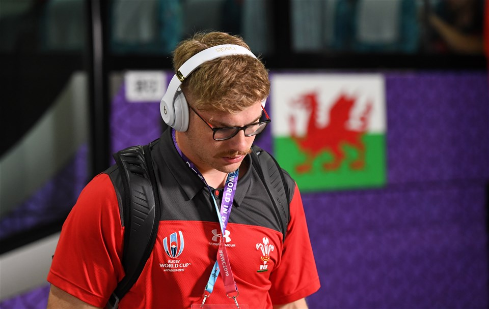 29.09.19 - Australia v Wales - Rugby World Cup - Aaron Wainwright of Wales arrives at the stadium.