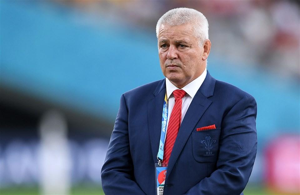 29.09.19 - Australia v Wales - Rugby World Cup - Wales head coach Warren Gatland.