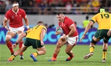29.09.19 - Australia v Wales - Rugby World Cup - Dillon Lewis of Wales is tackled by James Slipper of Australia.