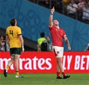 29.09.19 - Australia v Wales - Rugby World Cup - Ross Moriarty of Wales celebrates at full time.