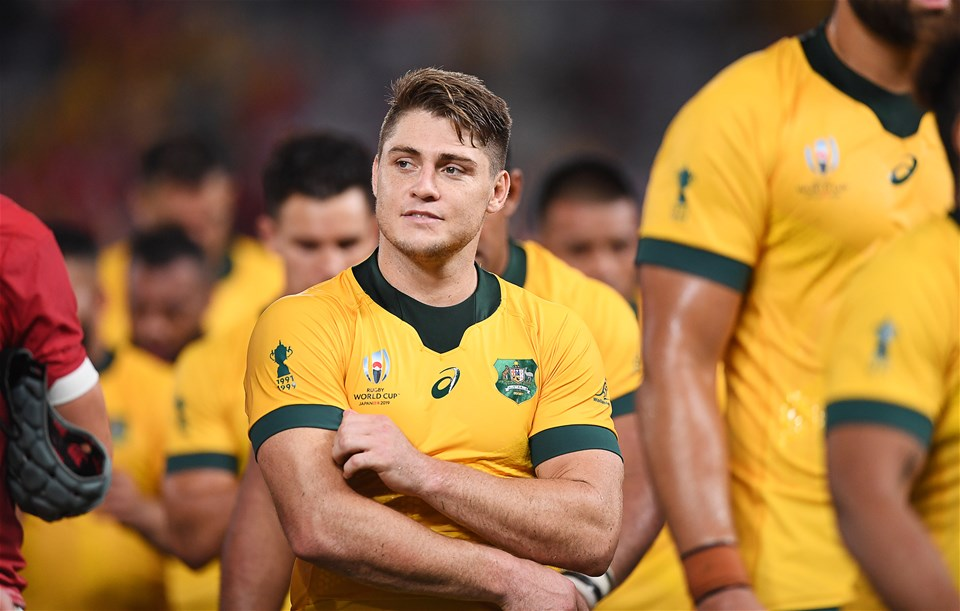 29.09.19 - Australia v Wales - Rugby World Cup - Dejected James OÕConnor of Australia at full time.