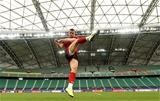 08.10.19 - Wales Rugby Training -Gareth Davies during training.